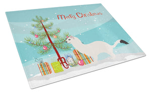 Buy this Stoat Short-tailed Weasel Christmas Glass Cutting Board Large BB9239LCB