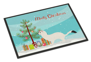 Buy this Stoat Short-tailed Weasel Christmas Indoor or Outdoor Mat 18x27 BB9239MAT