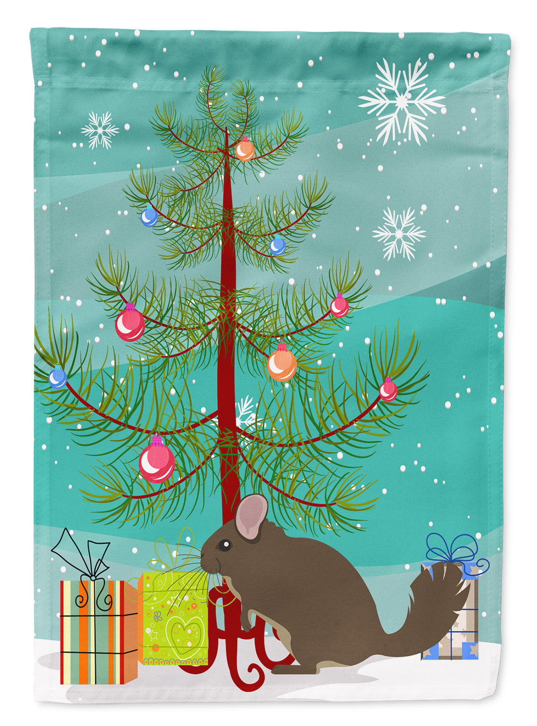 Buy this Chinchilla Christmas Flag Garden Size BB9242GF