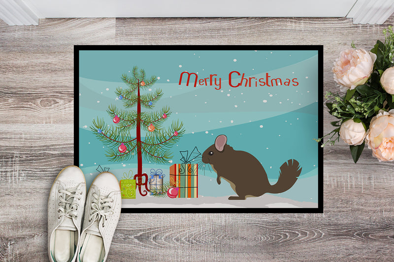 Buy this Chinchilla Christmas Indoor or Outdoor Mat 18x27 BB9242MAT