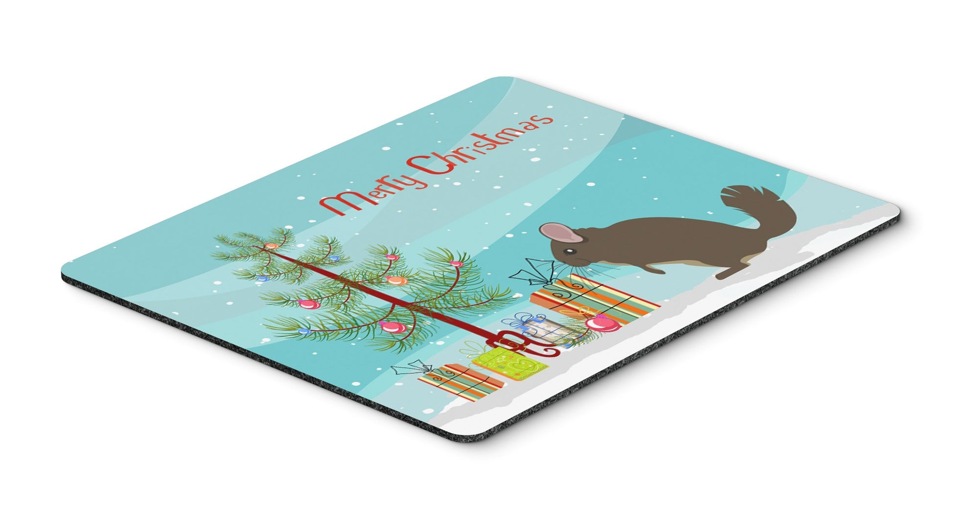 Buy this Chinchilla Christmas Mouse Pad, Hot Pad or Trivet BB9242MP