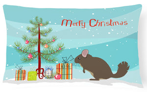 Buy this Chinchilla Christmas Canvas Fabric Decorative Pillow BB9242PW1216