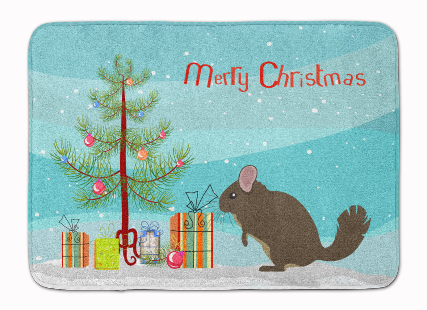 Buy this Chinchilla Christmas Machine Washable Memory Foam Mat BB9242RUG