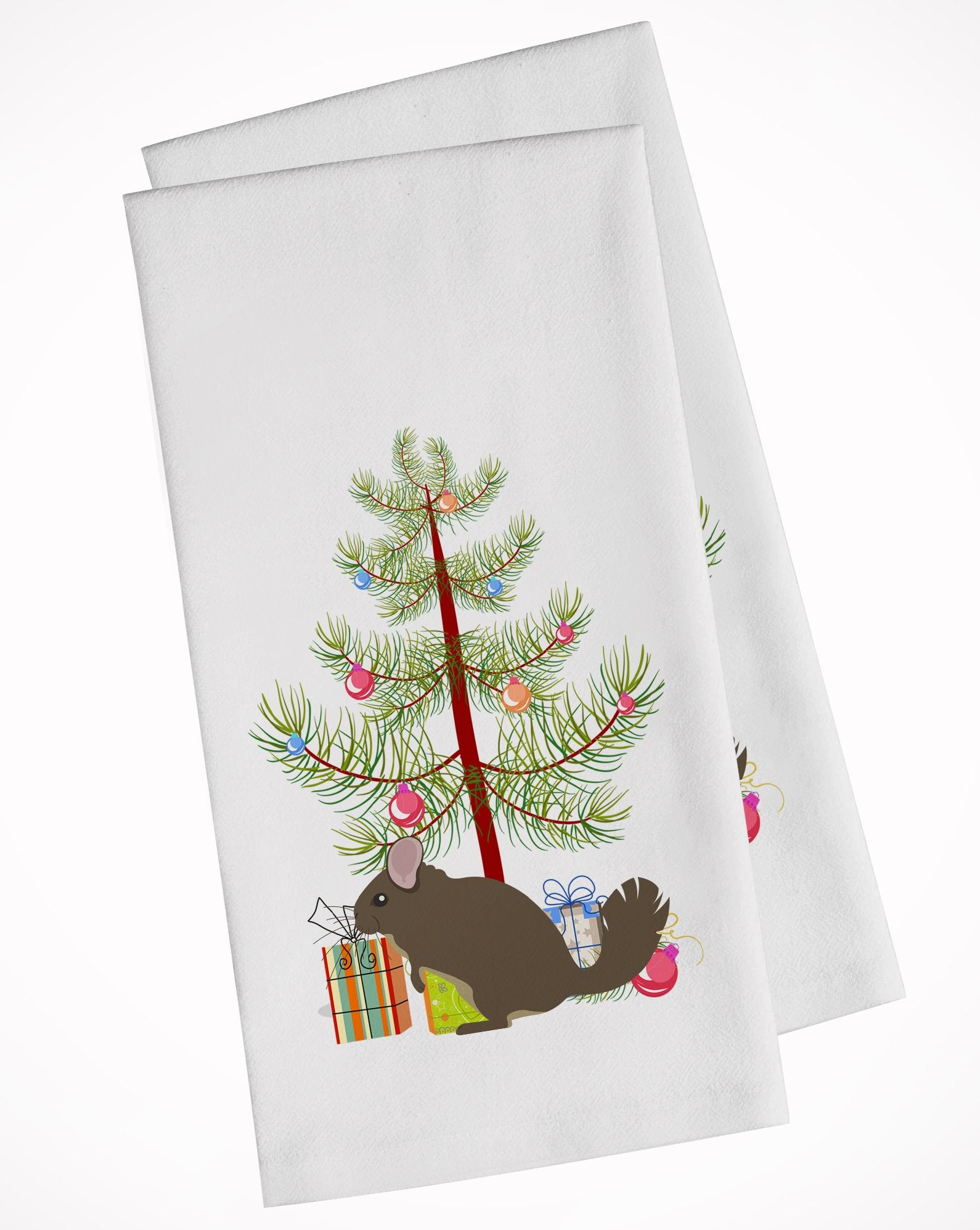 Buy this Chinchilla Christmas White Kitchen Towel Set of 2 BB9242WTKT