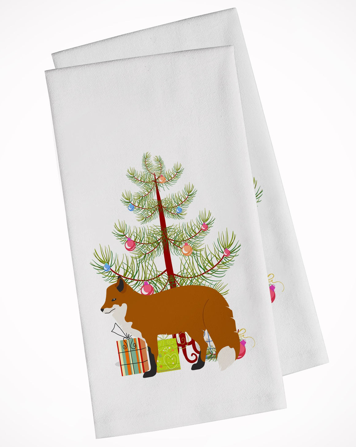 Buy this Red Fox Christmas White Kitchen Towel Set of 2 BB9243WTKT