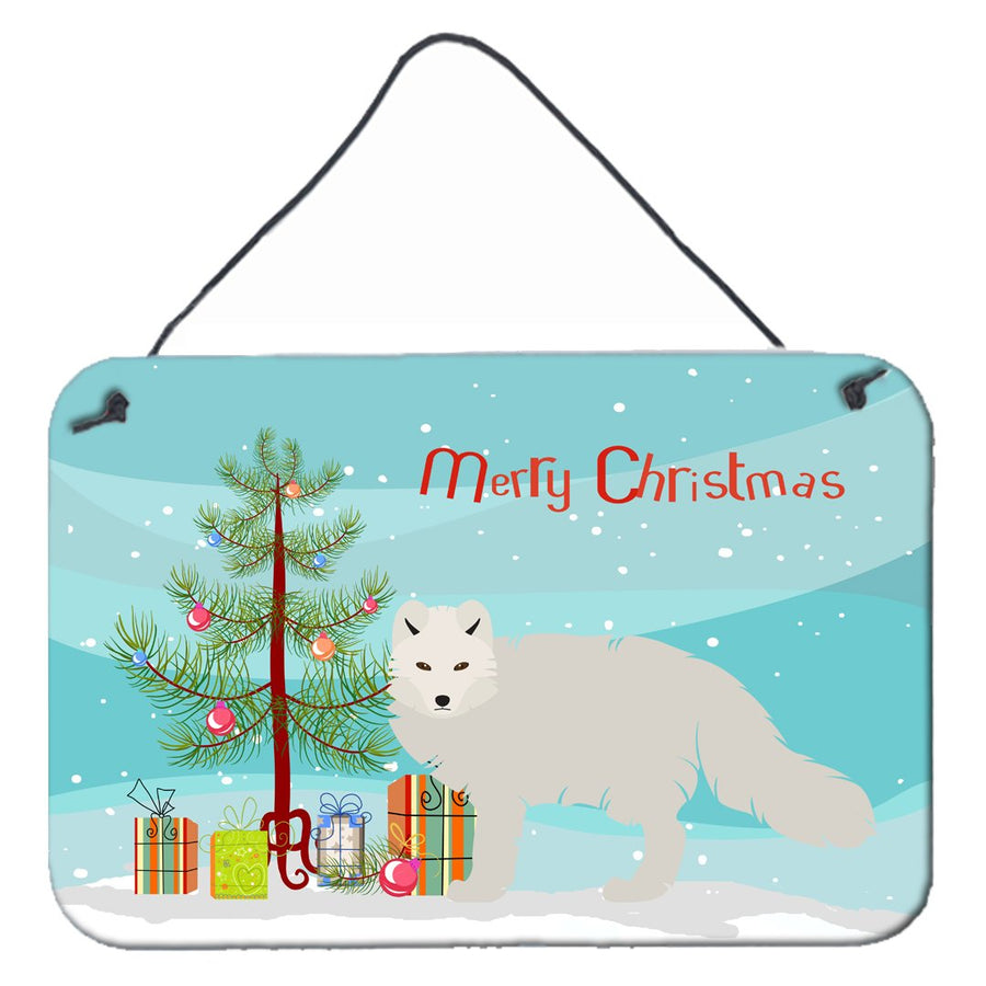 Buy this White Arctic Fox Christmas Wall or Door Hanging Prints BB9244DS812