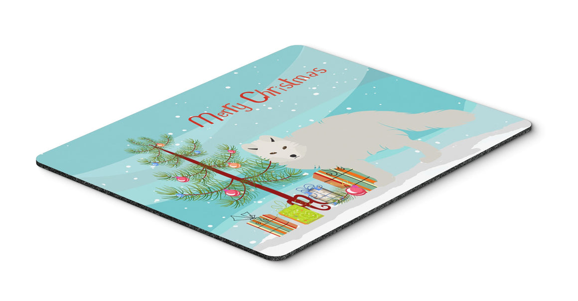 Buy this White Arctic Fox Christmas Mouse Pad, Hot Pad or Trivet BB9244MP