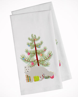 Buy this White Arctic Fox Christmas White Kitchen Towel Set of 2 BB9244WTKT