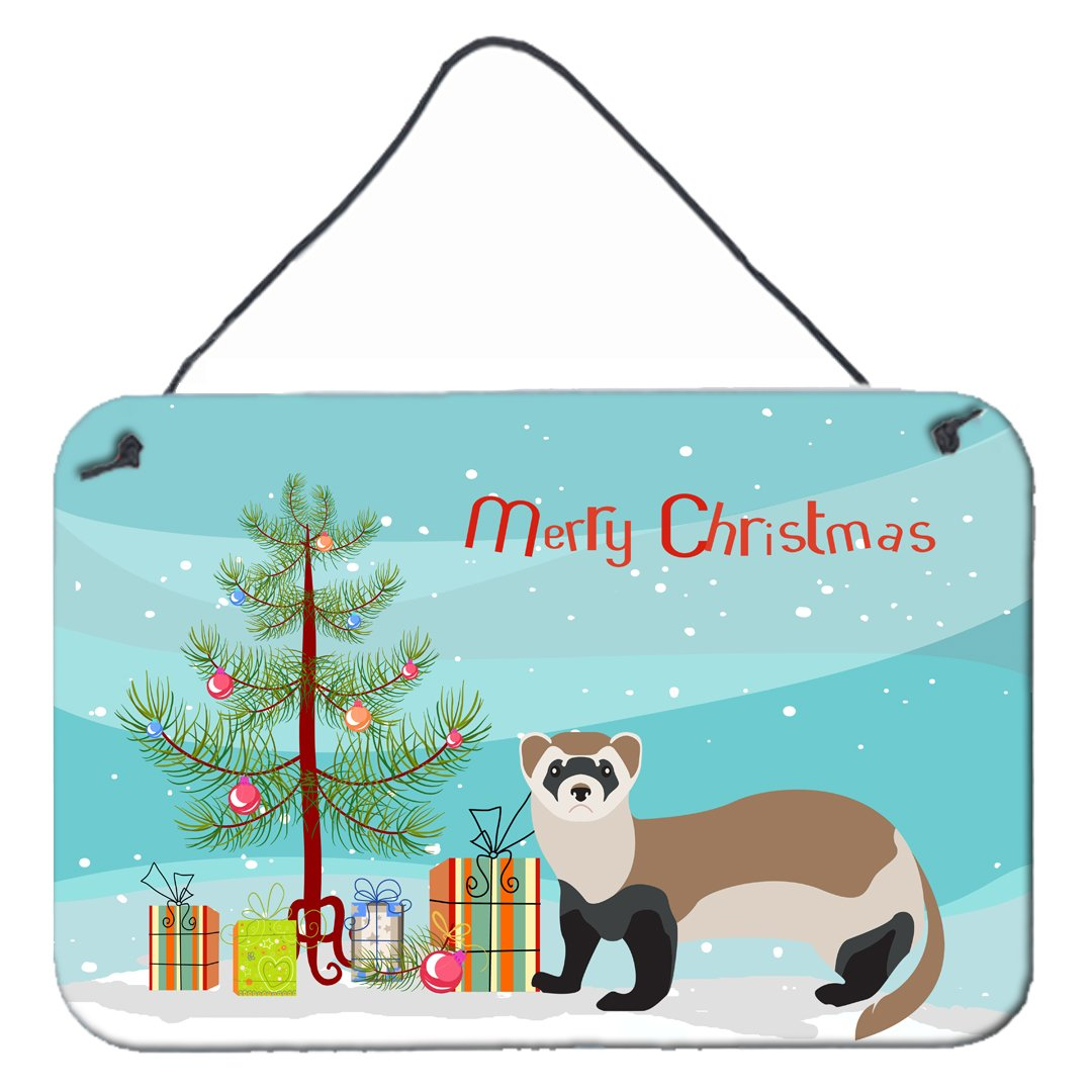 Buy this Ferret Christmas Wall or Door Hanging Prints BB9245DS812