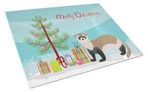 Buy this Ferret Christmas Glass Cutting Board Large BB9245LCB