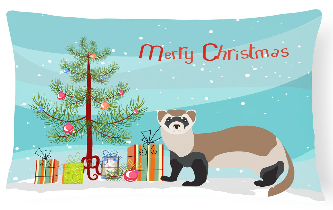 Buy this Ferret Christmas Canvas Fabric Decorative Pillow BB9245PW1216