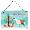 Alpine Goat Christmas Wall or Door Hanging Prints BB9247DS812 by Caroline's Treasures