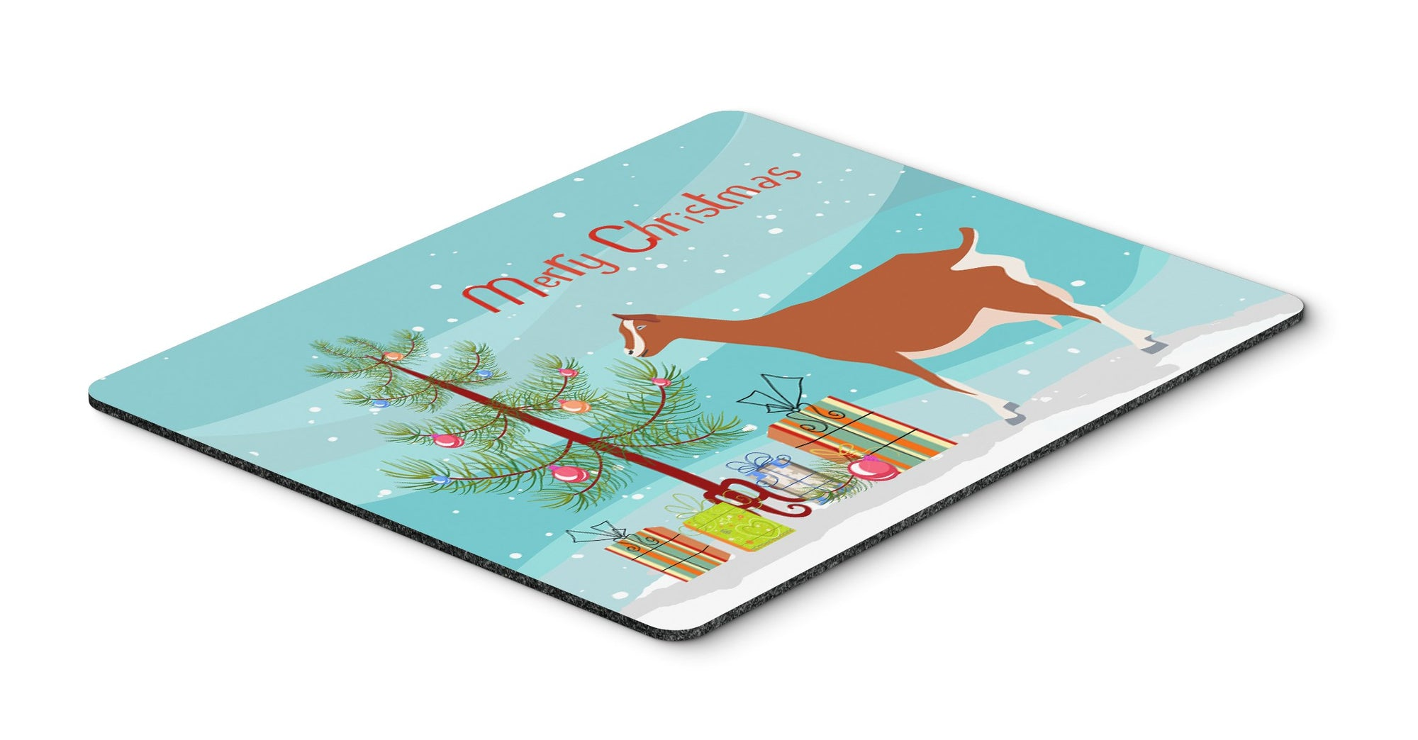 Toggenburger Goat Christmas Mouse Pad, Hot Pad or Trivet BB9248MP by Caroline's Treasures