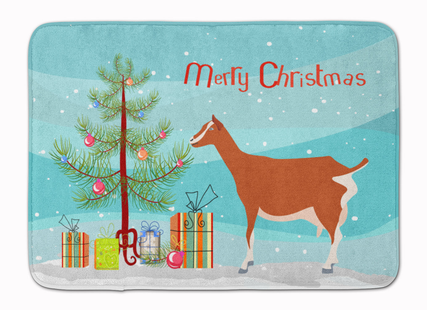 Toggenburger Goat Christmas Machine Washable Memory Foam Mat BB9248RUG by Caroline's Treasures