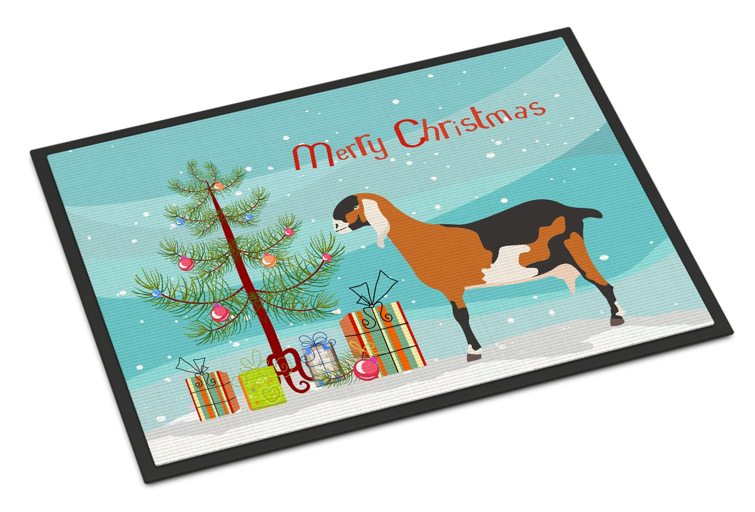 Anglo-nubian Nubian Goat Christmas Indoor or Outdoor Mat 24x36 BB9250JMAT by Caroline's Treasures