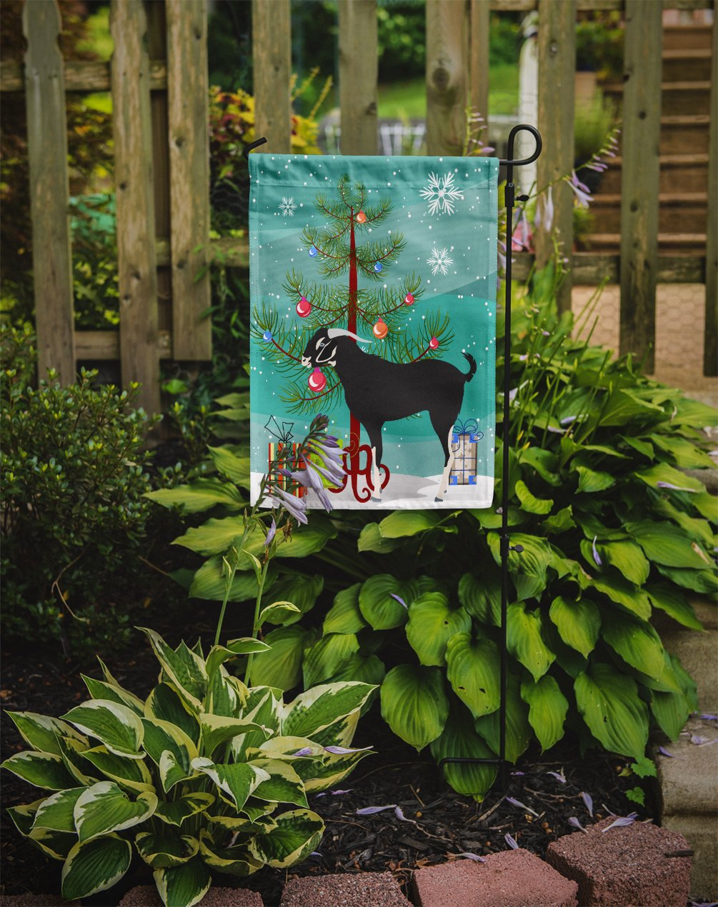 Black Bengal Goat Christmas Flag Garden Size BB9251GF by Caroline's Treasures