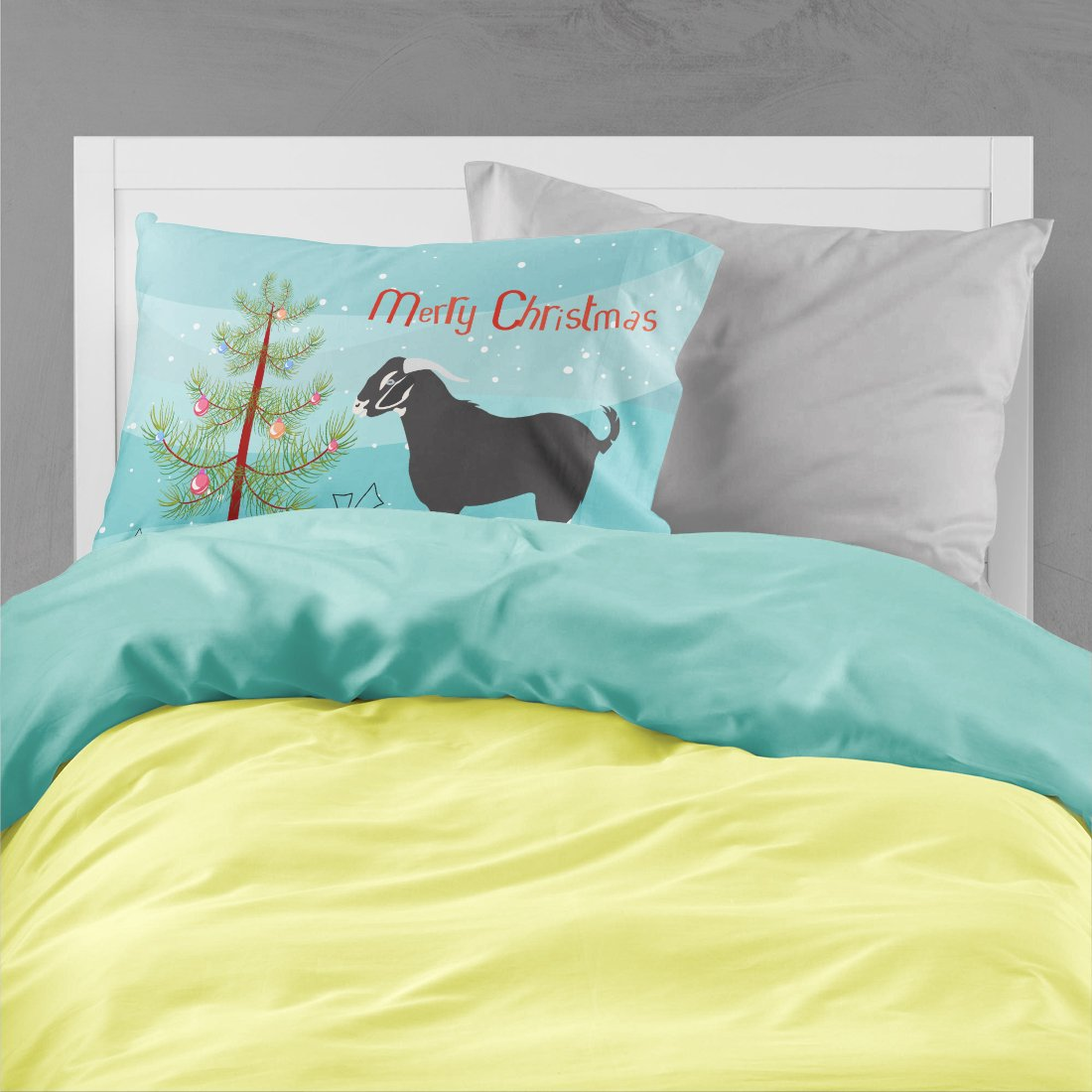 Black Bengal Goat Christmas Fabric Standard Pillowcase BB9251PILLOWCASE by Caroline's Treasures