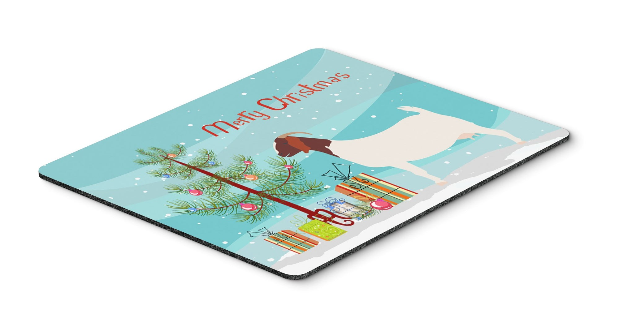 Boer Goat Christmas Mouse Pad, Hot Pad or Trivet BB9253MP by Caroline's Treasures