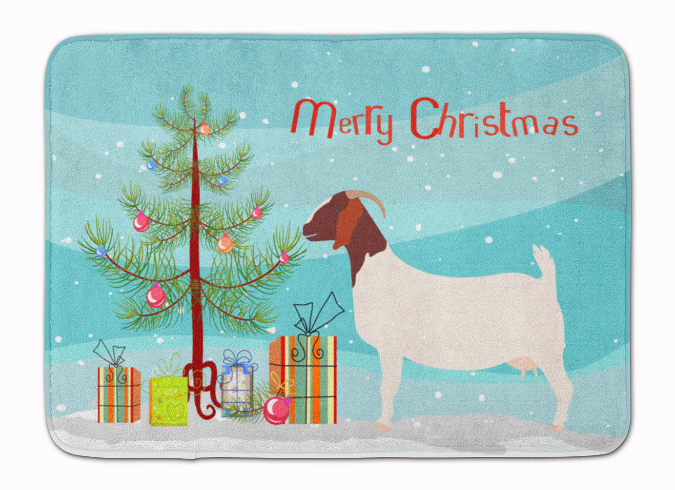 Boer Goat Christmas Machine Washable Memory Foam Mat BB9253RUG by Caroline's Treasures