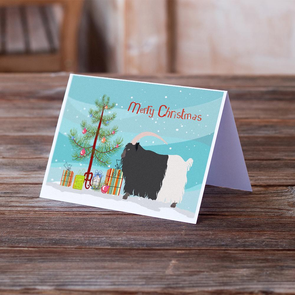 Buy this Welsh Black-Necked Goat Christmas Greeting Cards and Envelopes Pack of 8