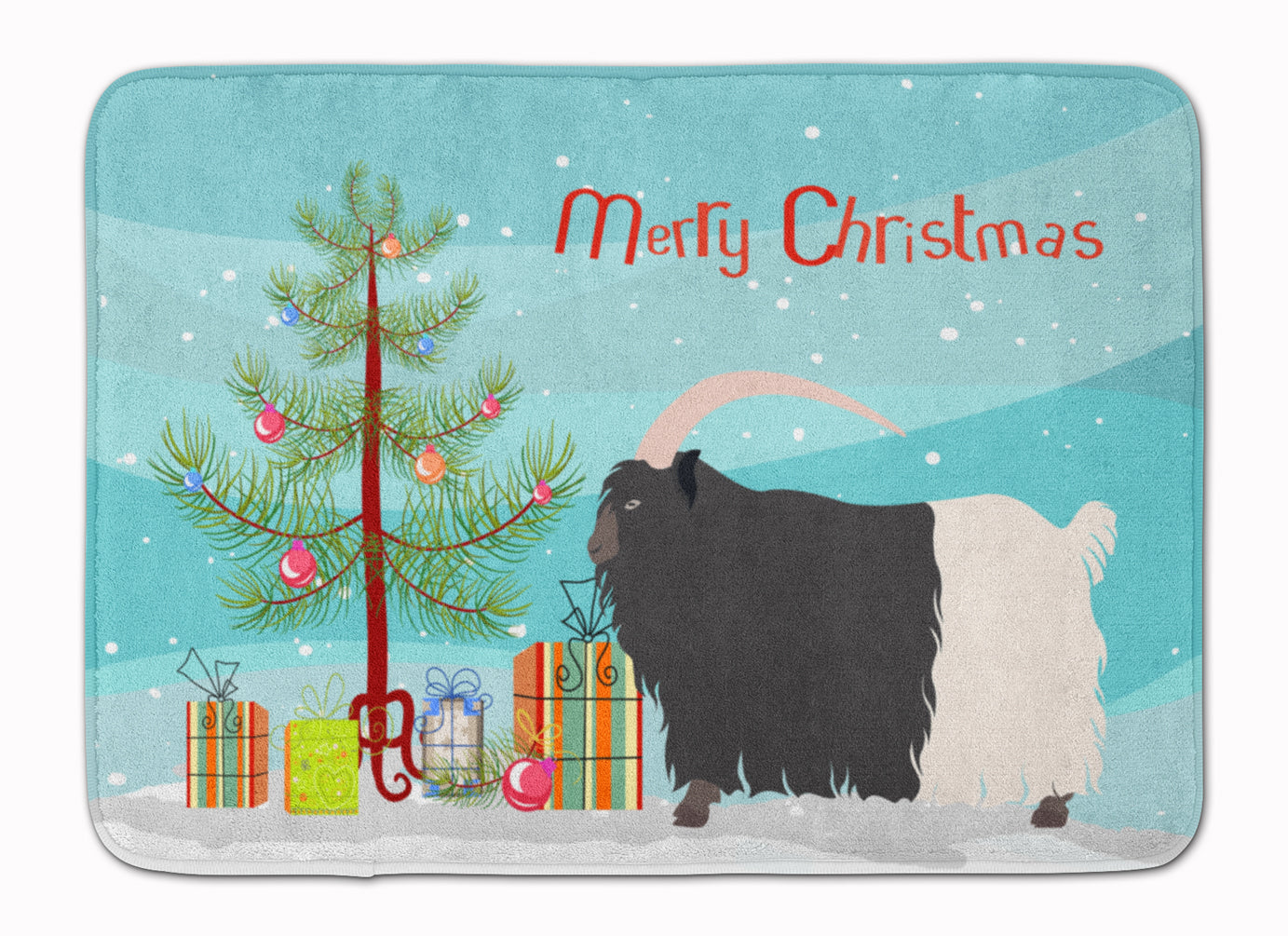 Welsh Black-Necked Goat Christmas Machine Washable Memory Foam Mat BB9254RUG by Caroline's Treasures
