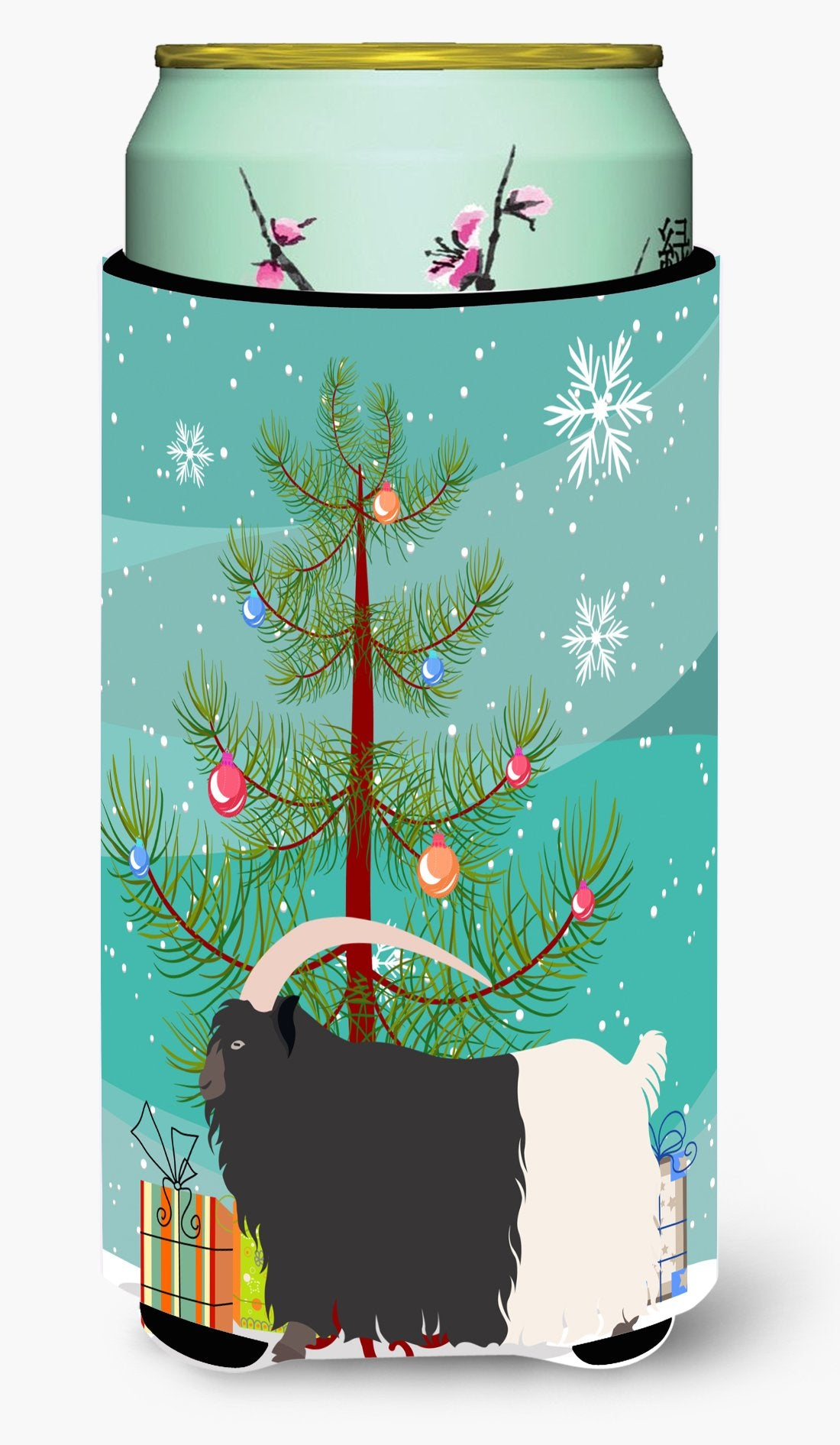 Welsh Black-Necked Goat Christmas Tall Boy Beverage Insulator Hugger BB9254TBC by Caroline's Treasures
