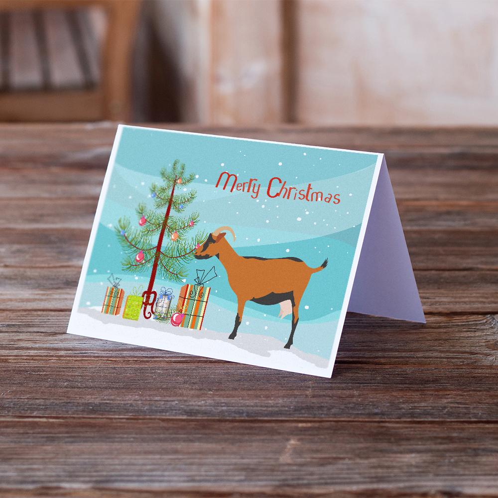 Buy this Oberhasli Goat Christmas Greeting Cards and Envelopes Pack of 8