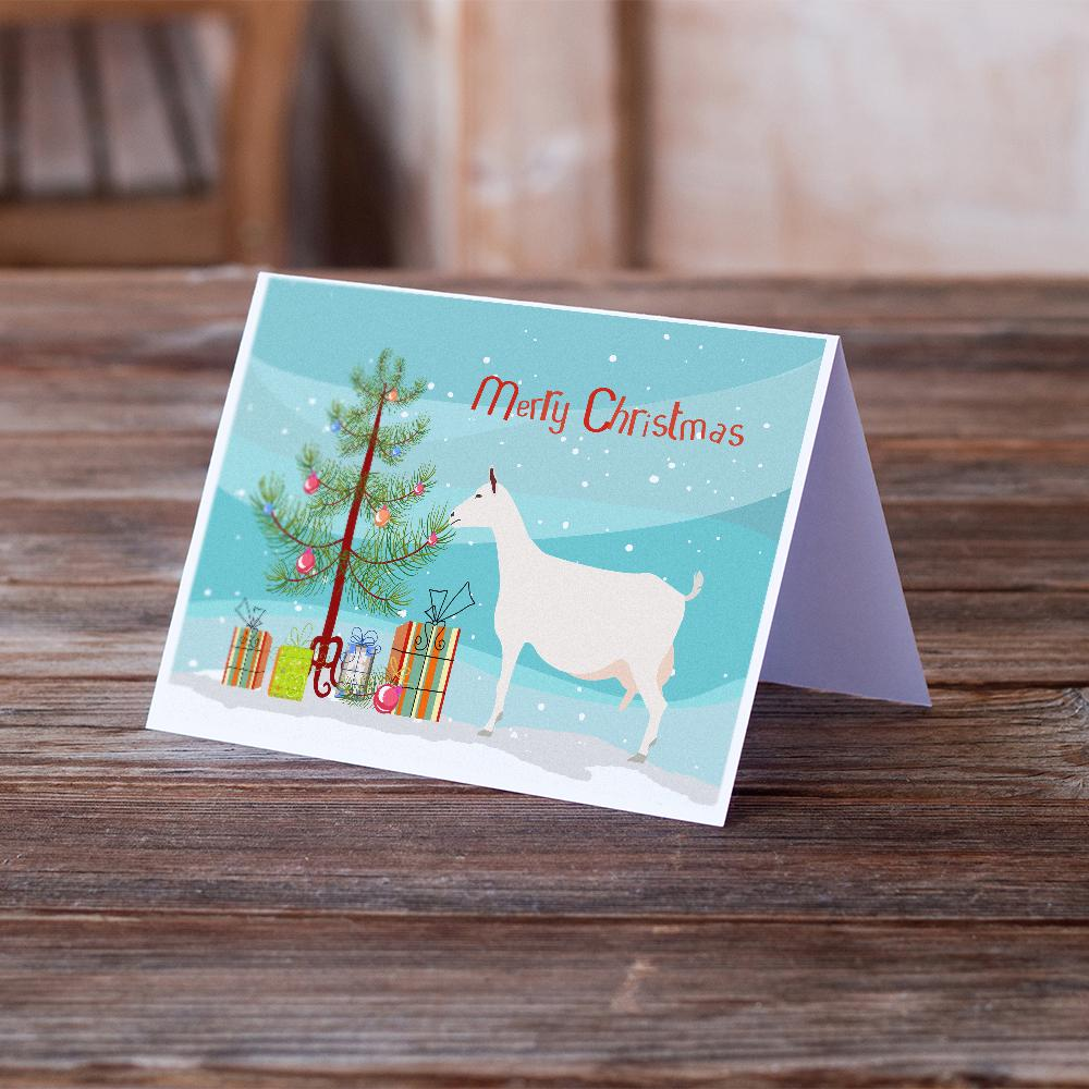 Buy this Saanen Goat Christmas Greeting Cards and Envelopes Pack of 8