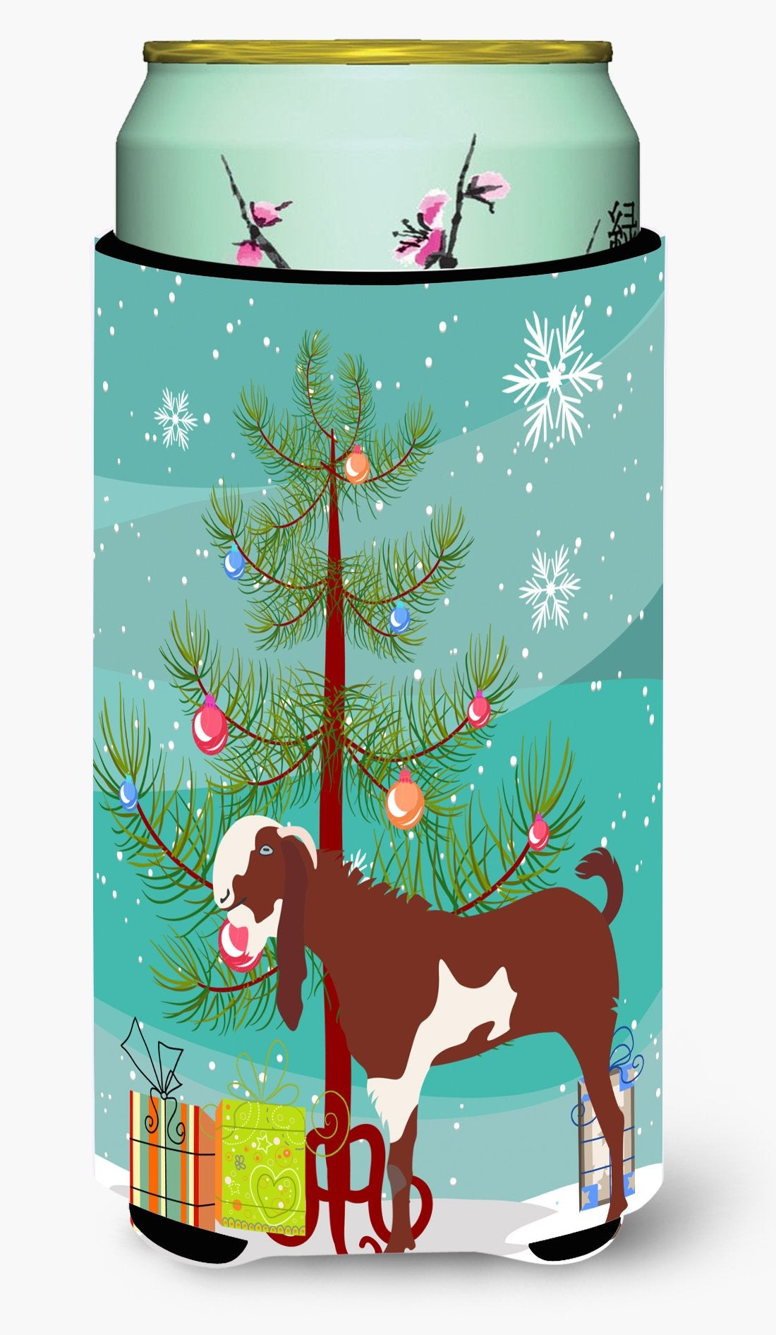Jamnapari Goat Christmas Tall Boy Beverage Insulator Hugger BB9257TBC by Caroline's Treasures