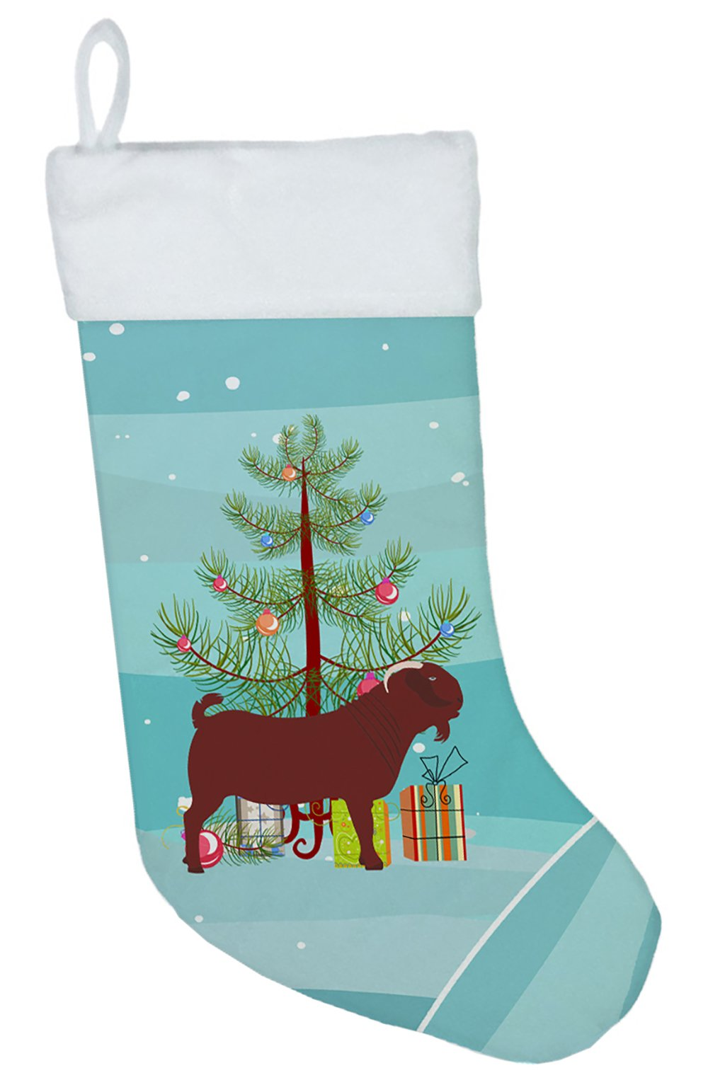 Kalahari Red Goat Christmas Christmas Stocking BB9258CS by Caroline's Treasures