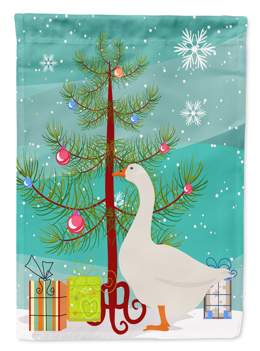 Embden Goose Christmas Flag Canvas House Size BB9259CHF by Caroline's Treasures