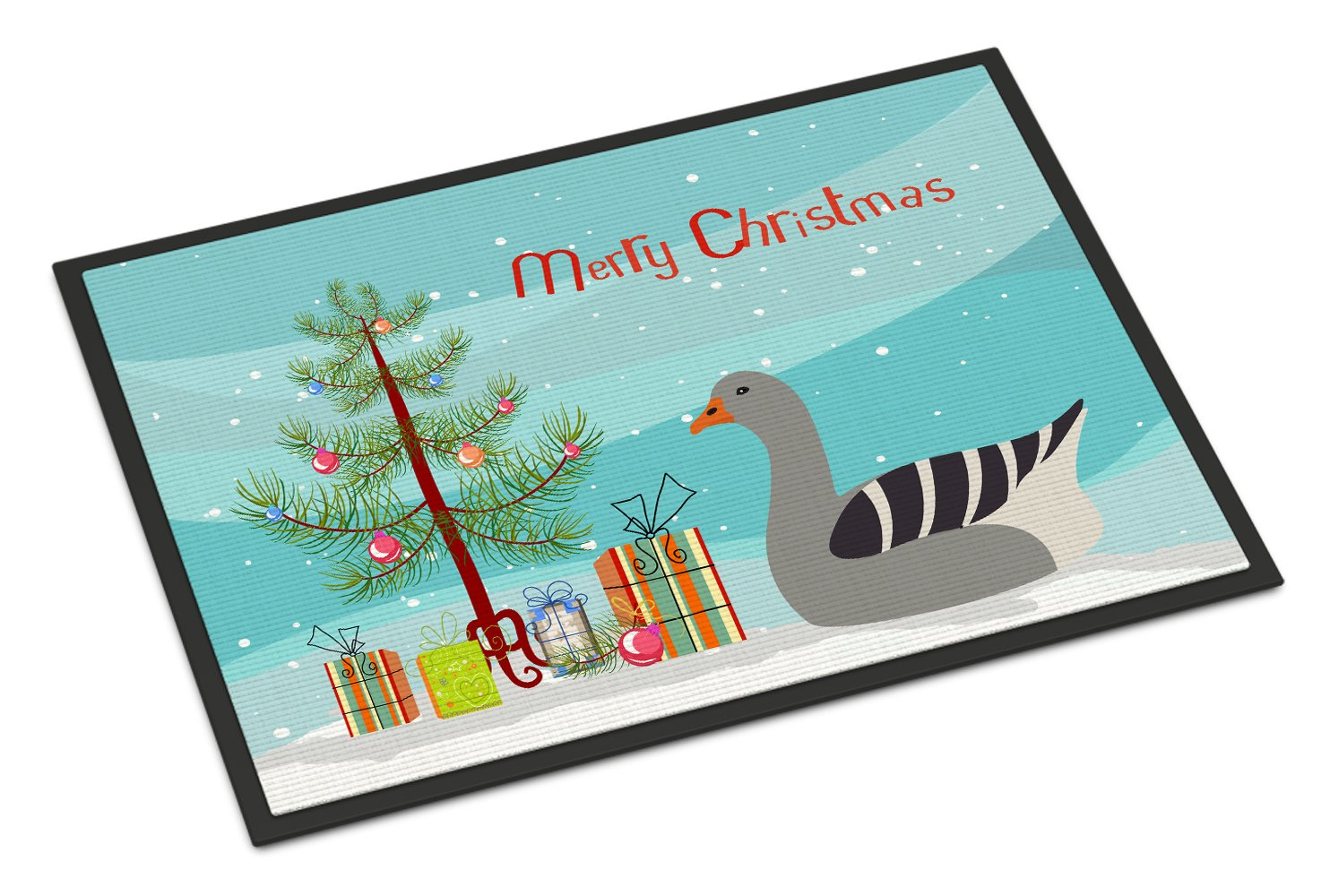Pilgrim Goose Christmas Indoor or Outdoor Mat 24x36 BB9260JMAT by Caroline's Treasures