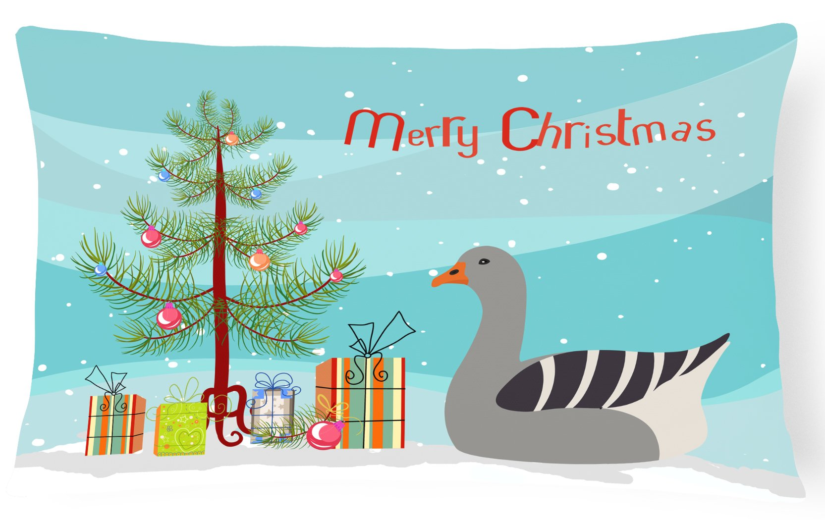 Pilgrim Goose Christmas Canvas Fabric Decorative Pillow BB9260PW1216 by Caroline's Treasures