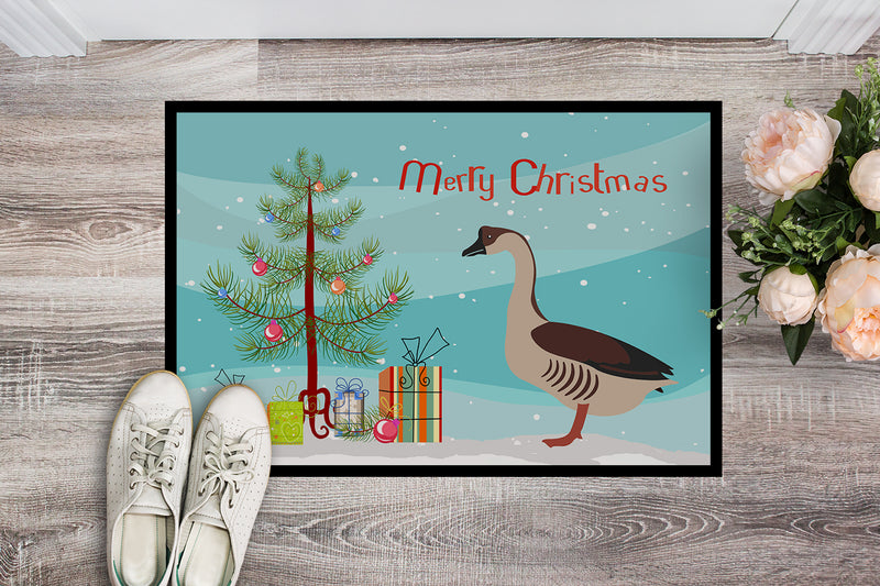 Chinese Goose Christmas Indoor or Outdoor Mat 18x27 BB9263MAT by Caroline's Treasures