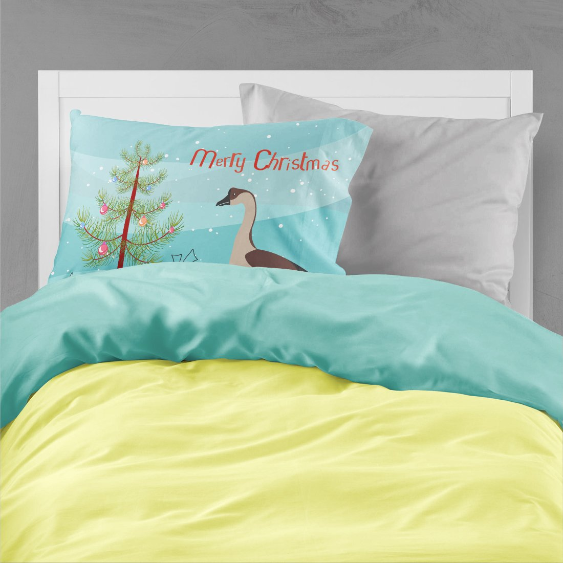 Chinese Goose Christmas Fabric Standard Pillowcase BB9263PILLOWCASE by Caroline's Treasures