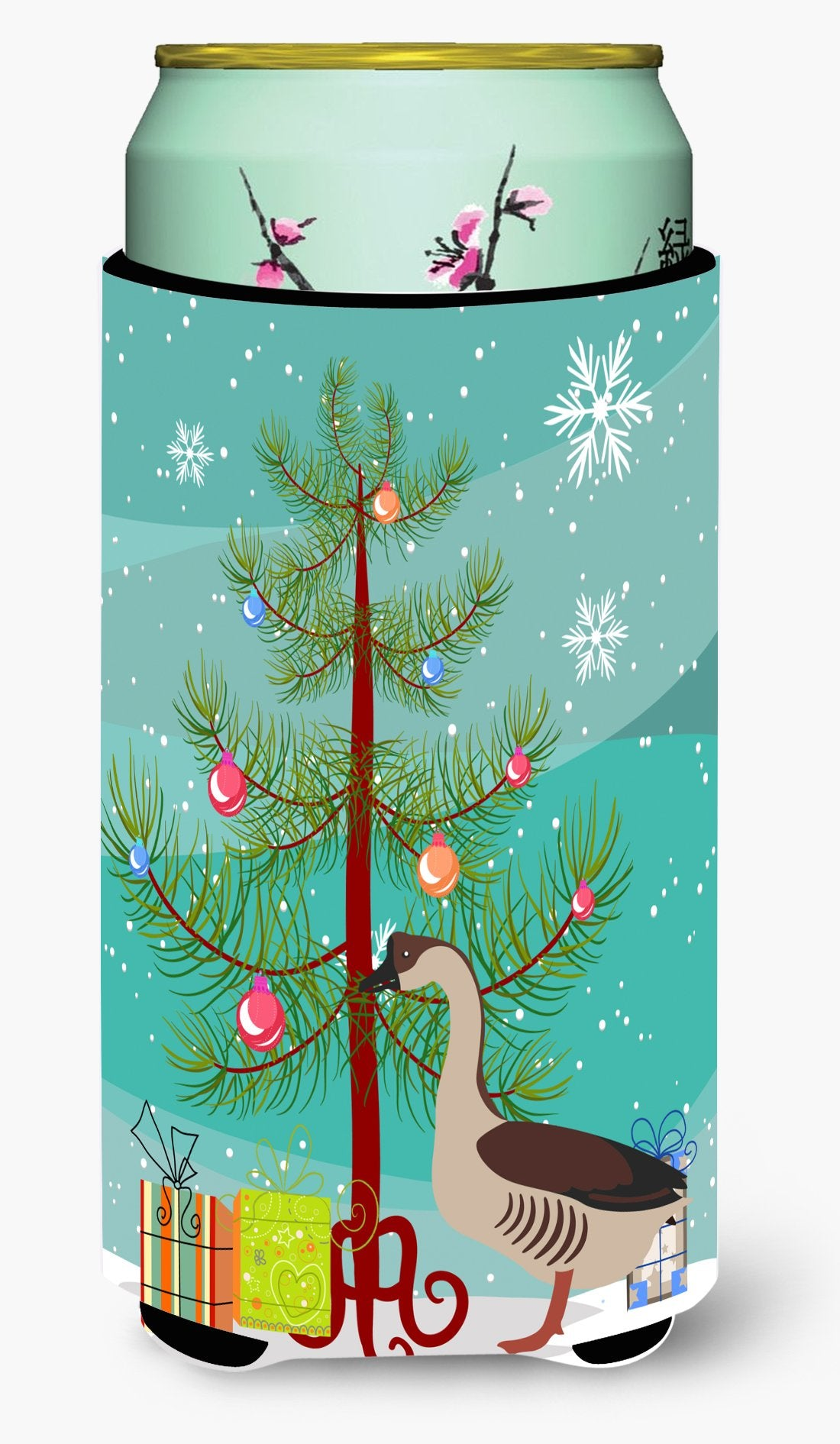 Chinese Goose Christmas Tall Boy Beverage Insulator Hugger BB9263TBC by Caroline's Treasures