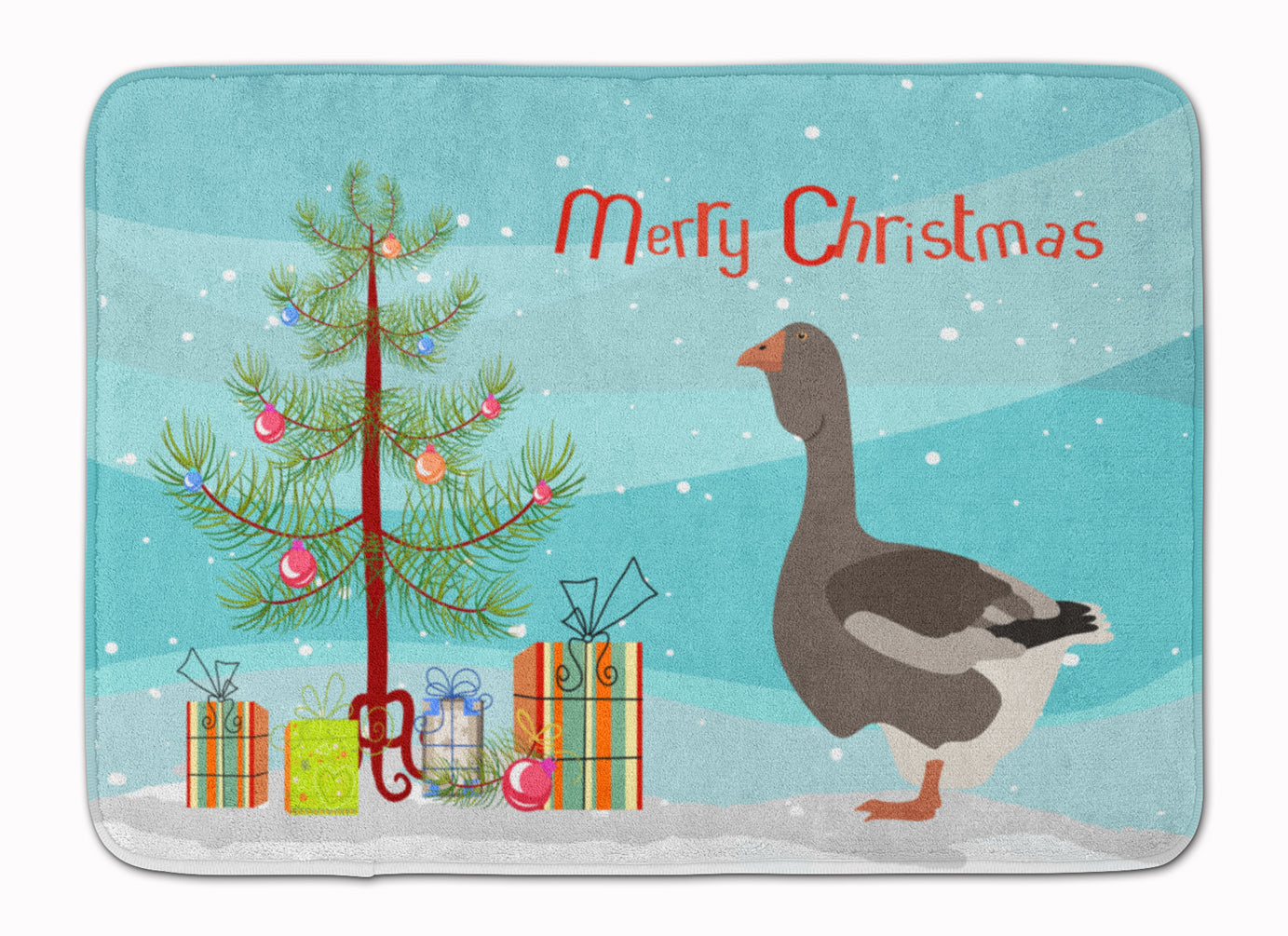 Toulouse Goose Christmas Machine Washable Memory Foam Mat BB9264RUG by Caroline's Treasures