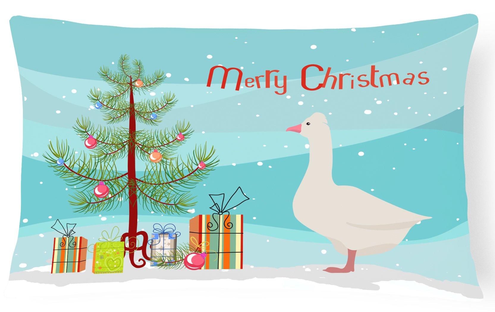 Buy this Roman Goose Christmas Canvas Fabric Decorative Pillow BB9265PW1216