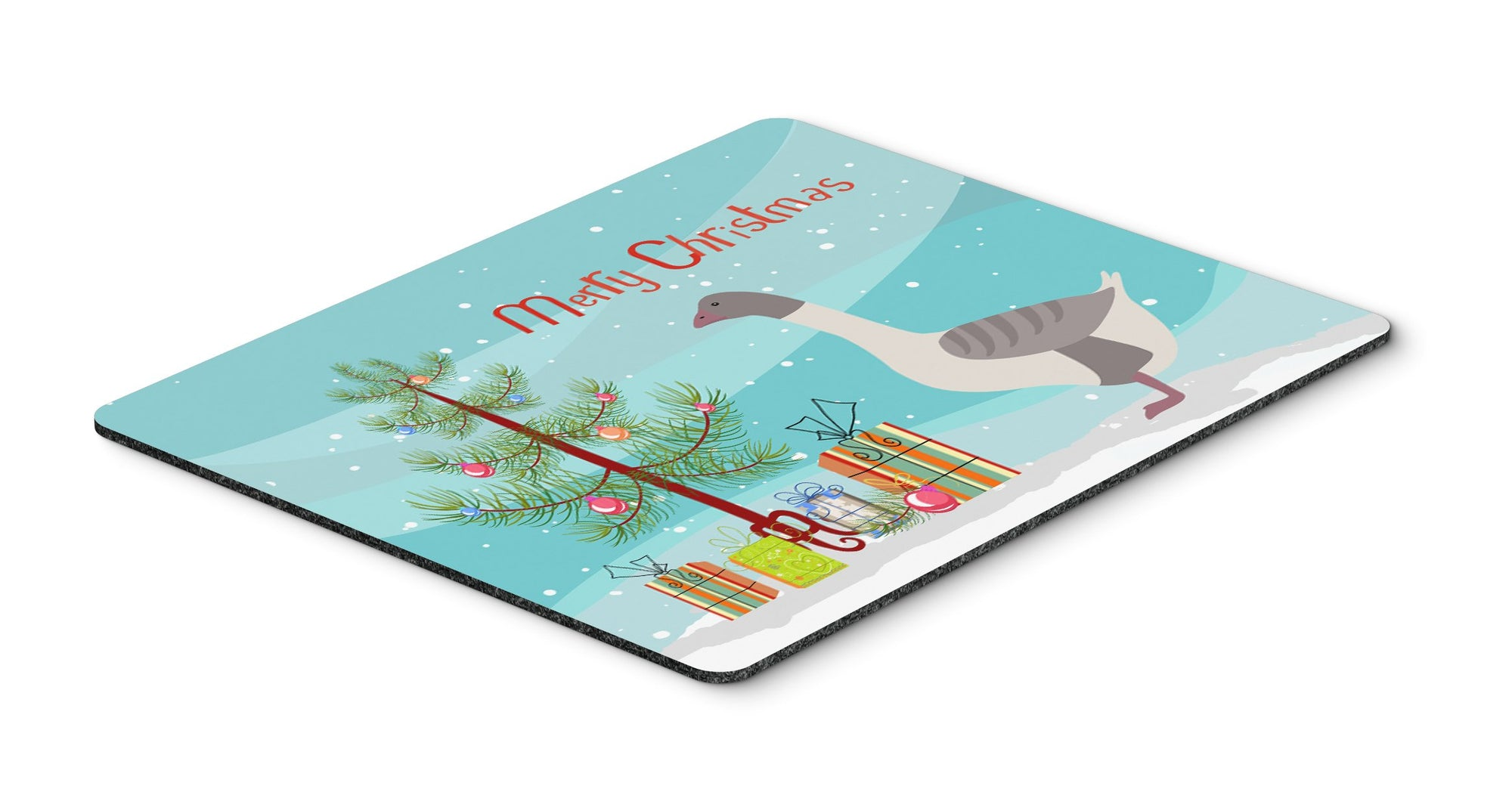 Buff Grey Back Goose Christmas Mouse Pad, Hot Pad or Trivet BB9268MP by Caroline's Treasures
