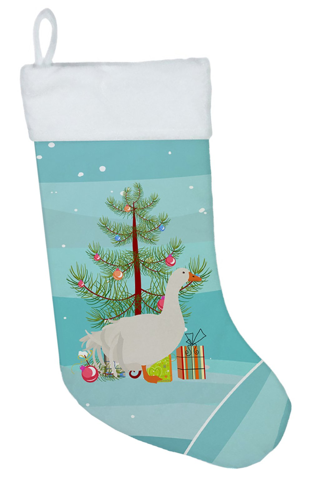 Sebastopol Goose Christmas Christmas Stocking BB9269CS by Caroline's Treasures