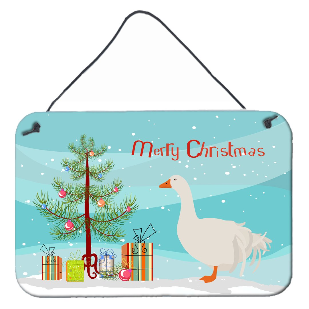 Sebastopol Goose Christmas Wall or Door Hanging Prints BB9269DS812 by Caroline's Treasures