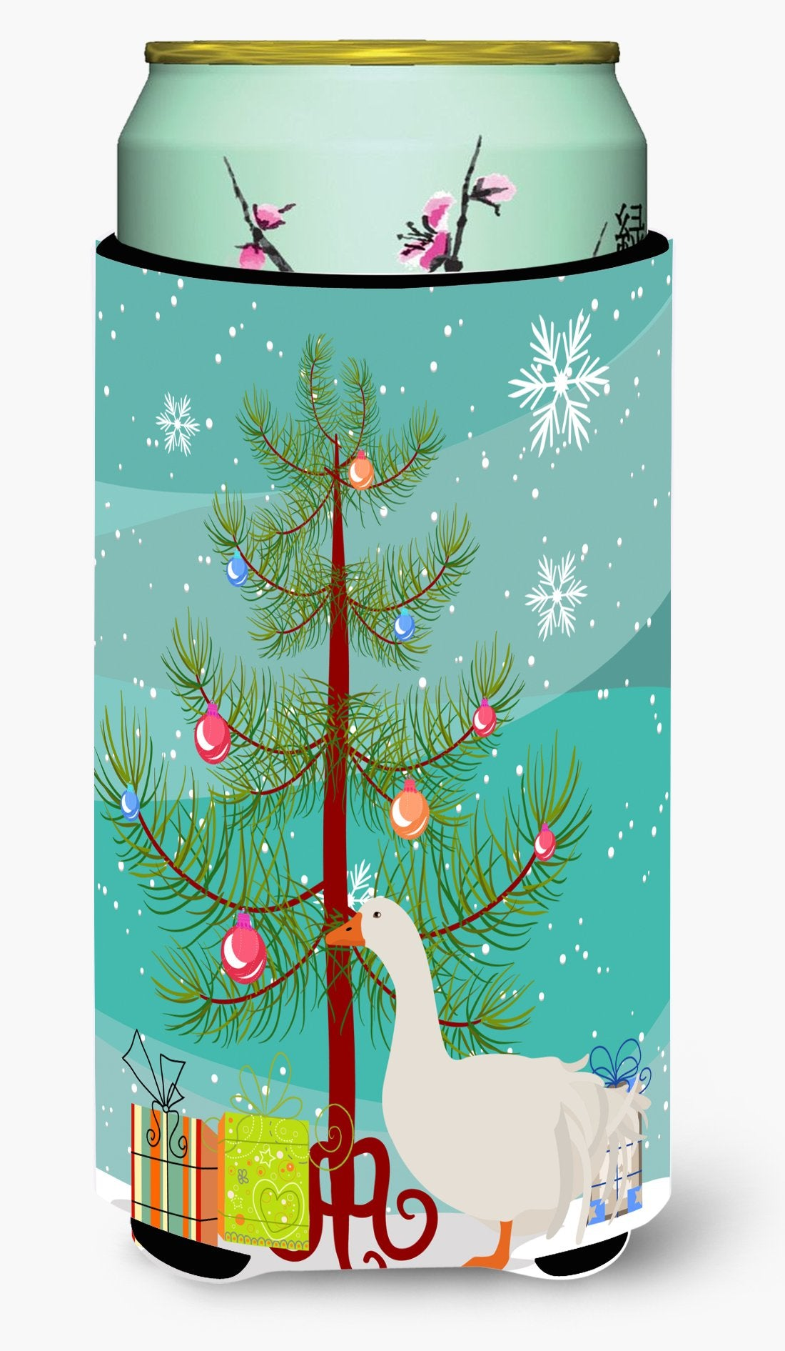 Sebastopol Goose Christmas Tall Boy Beverage Insulator Hugger BB9269TBC by Caroline's Treasures