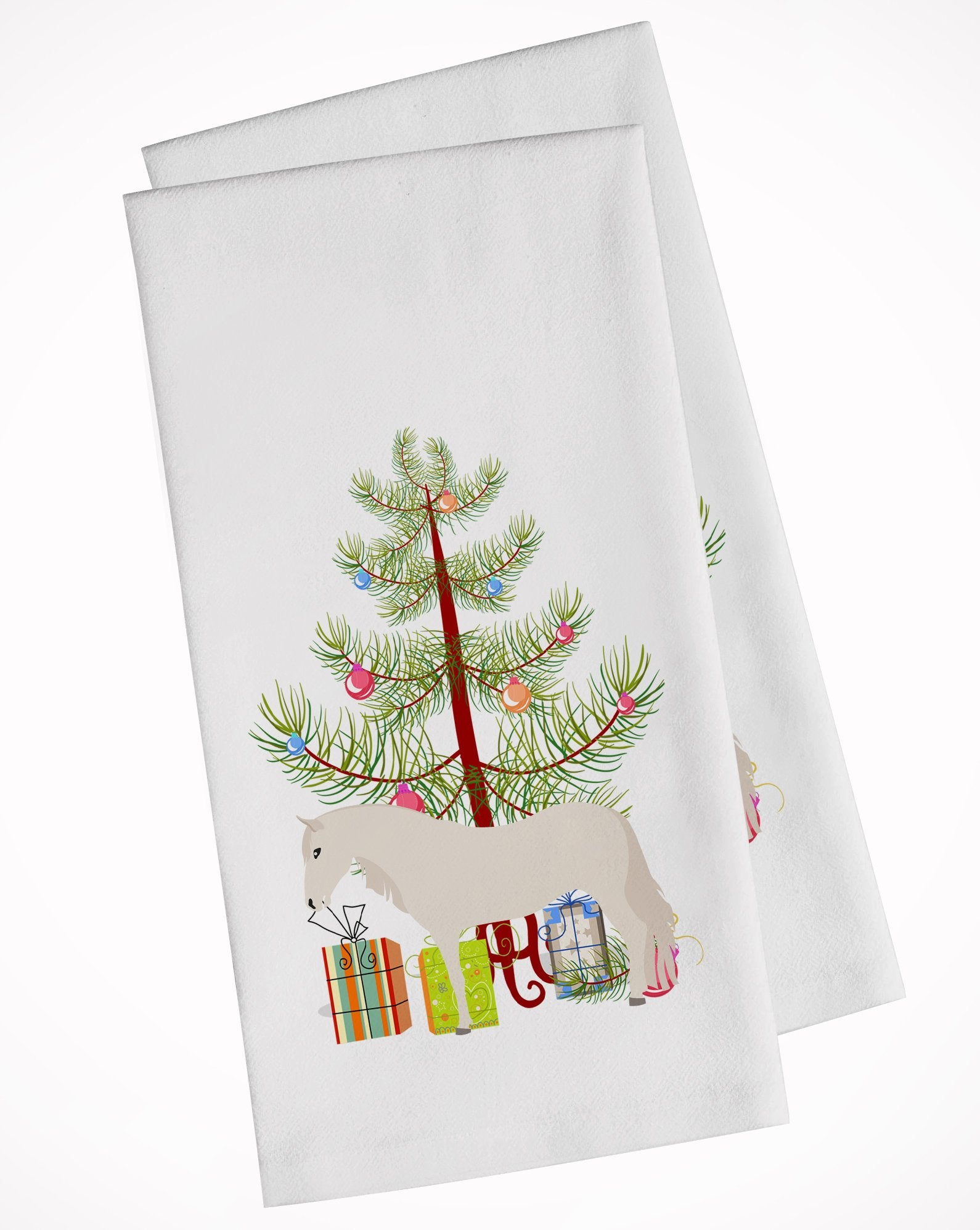 Buy this Paso Fino Horse Christmas White Kitchen Towel Set of 2 BB9272WTKT