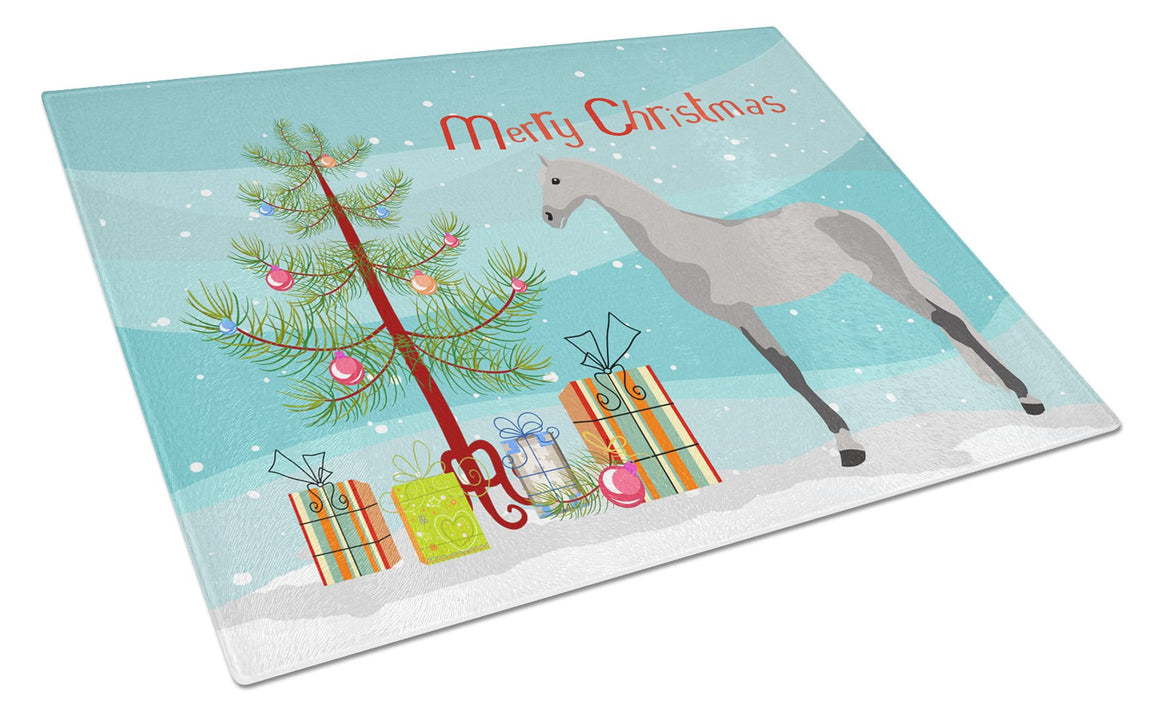 Buy this Orlov Trotter Horse Christmas Glass Cutting Board Large BB9275LCB