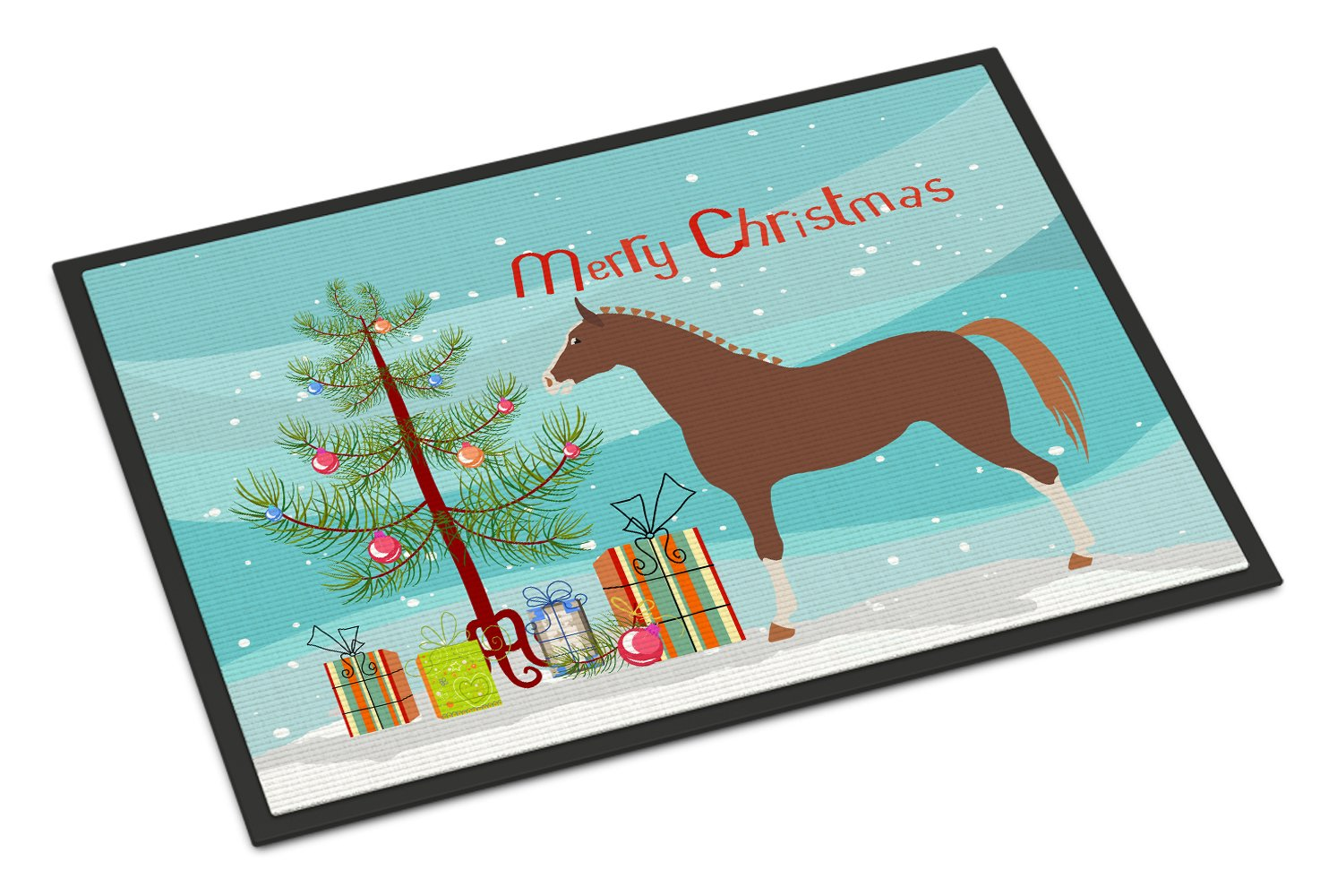 Hannoverian Horse Christmas Indoor or Outdoor Mat 24x36 BB9276JMAT by Caroline's Treasures