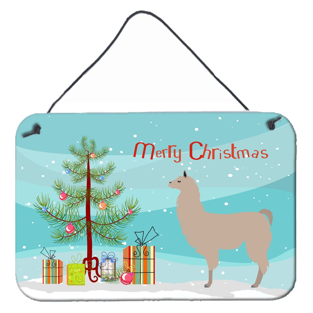 Buy this Llama Christmas Wall or Door Hanging Prints BB9283DS812