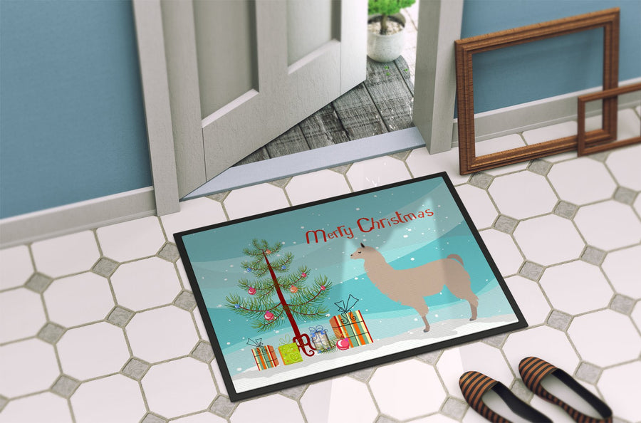 Buy this Llama Christmas Indoor or Outdoor Mat 24x36 BB9283JMAT