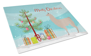 Buy this Llama Christmas Glass Cutting Board Large BB9283LCB