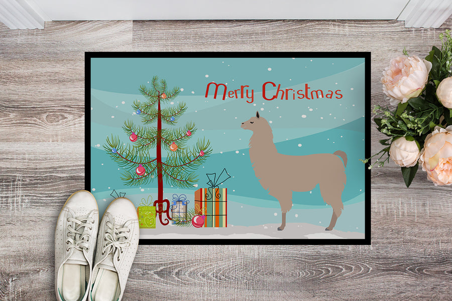 Buy this Llama Christmas Indoor or Outdoor Mat 18x27 BB9283MAT