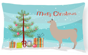 Buy this Llama Christmas Canvas Fabric Decorative Pillow BB9283PW1216